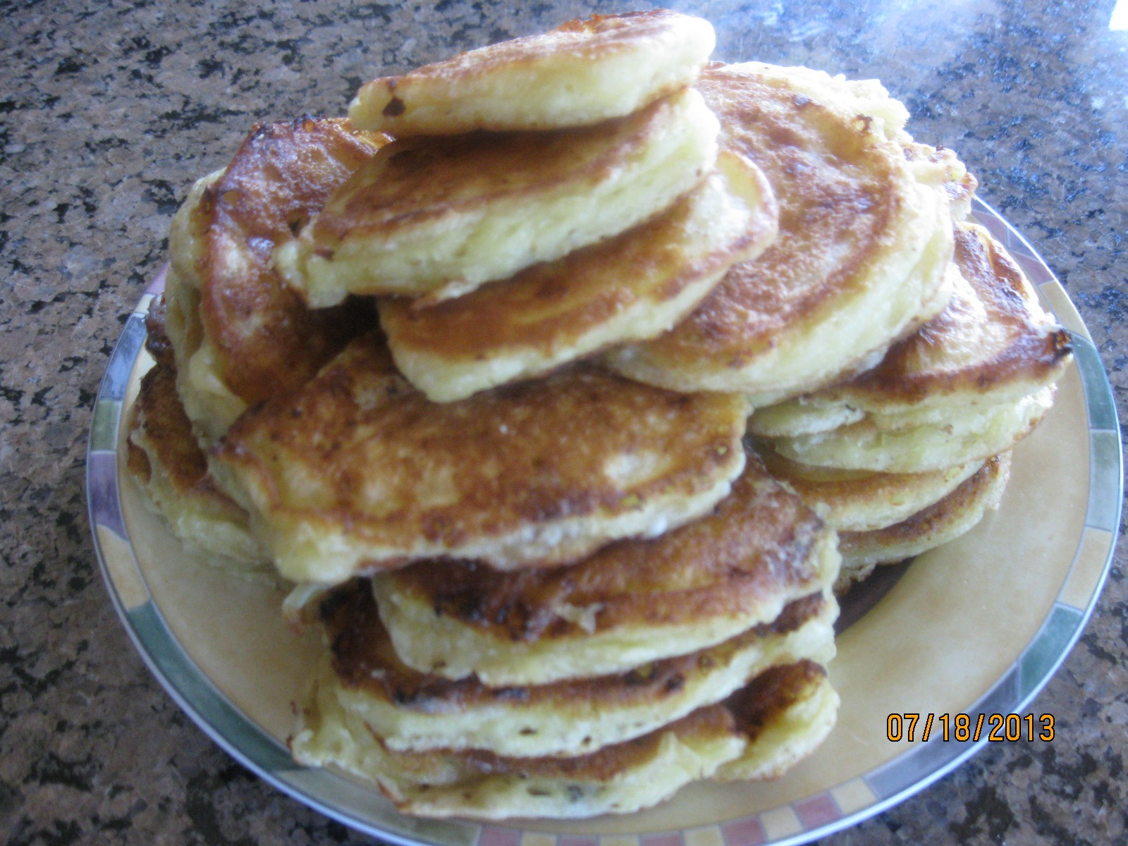 Cottage Cheese & Apple Pancakes