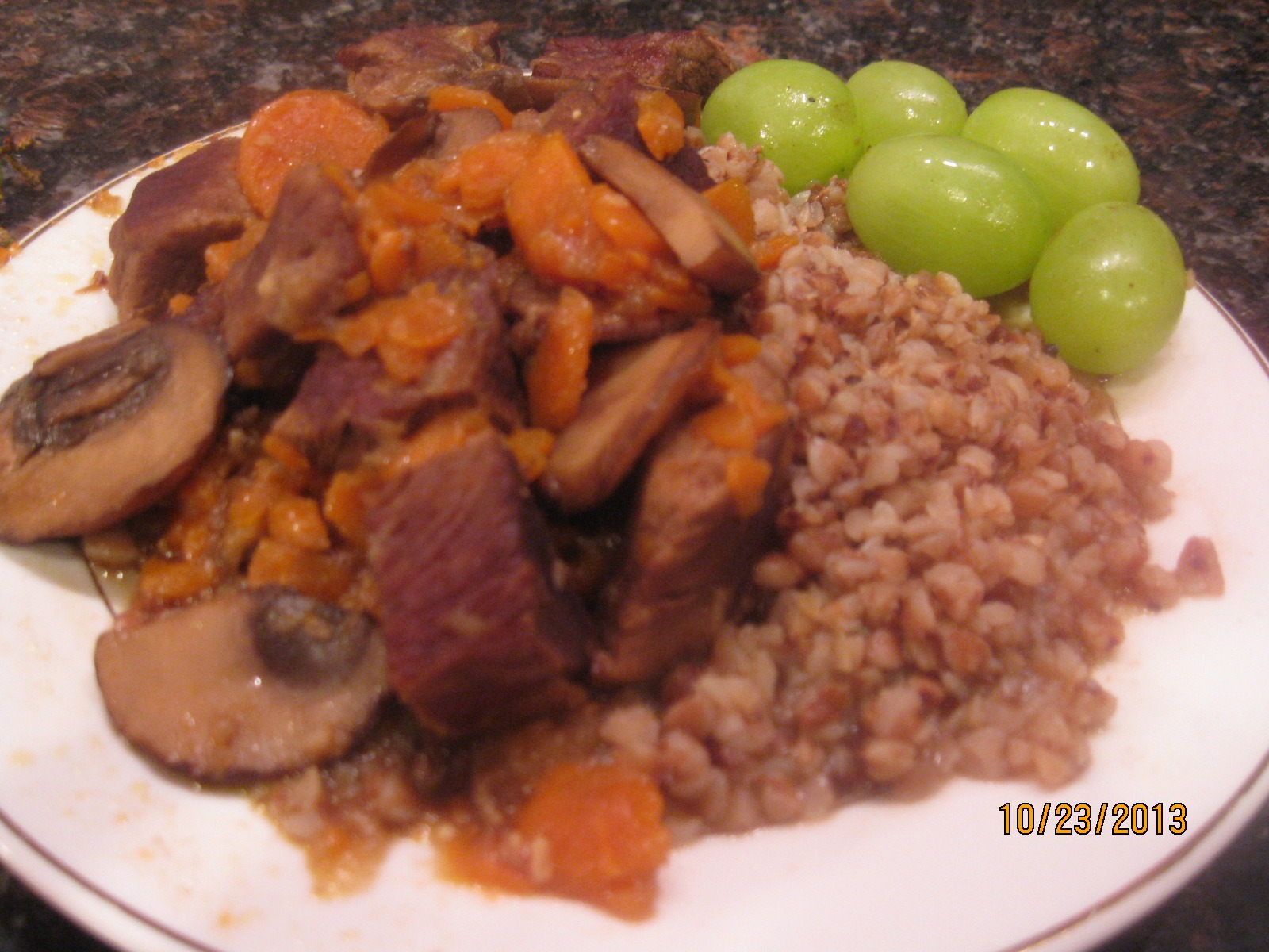 Buckwheat With Beef Stew