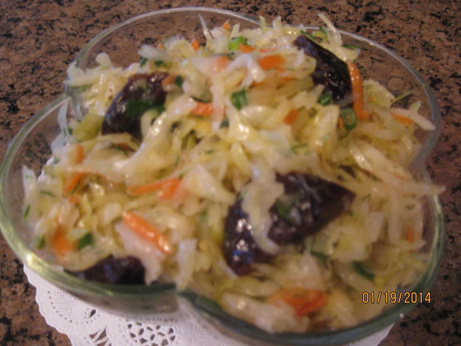 Sauerkraut  & Prunes Salad