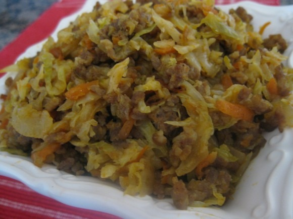 Cabbage with Italian Sausage