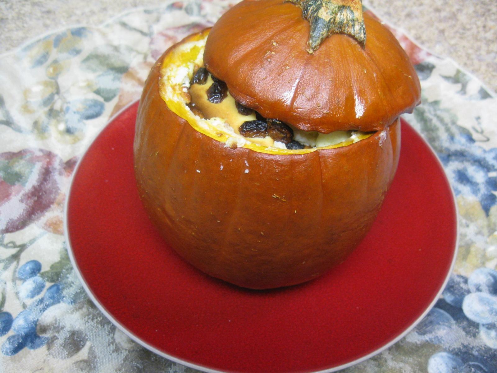 Russian Stuffed Pumpkin Dessert