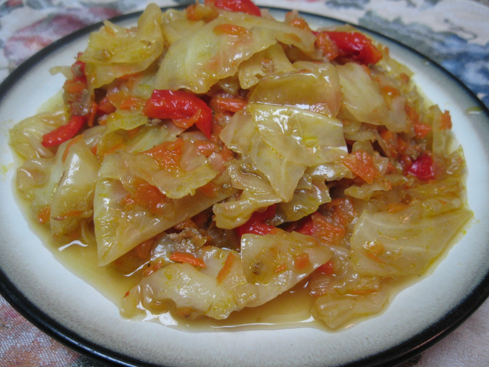 Russian Sautéed And Boiled Cabbage (vegetarian style)